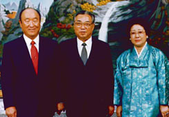 Rev. Moon with Kim Il Sung